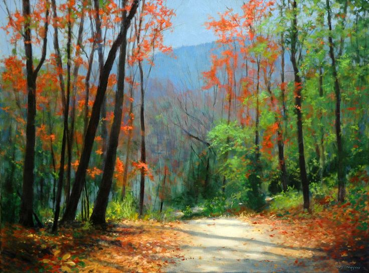 Easy acrylic paintings for beginners landscapes workshop for Fall paintings easy