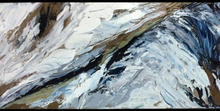 Art abstrait, huile, # Sommet