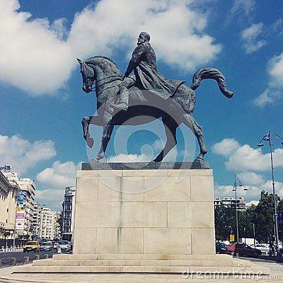 Horse statue of King Carol I