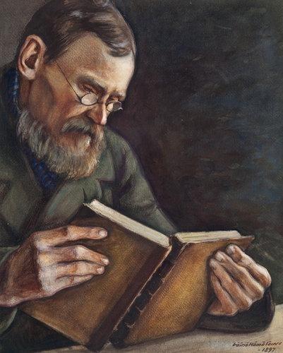 VAINO HAMALAINEN  A Man Reading (1897)