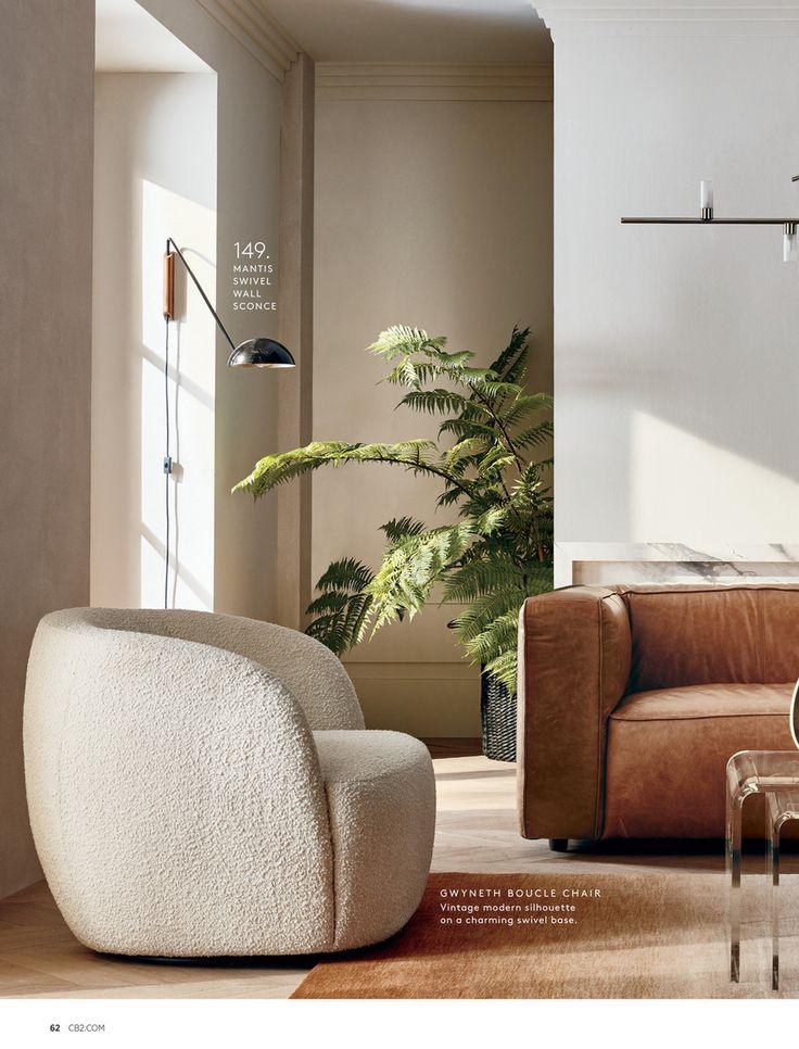 Cb2 january catalog 2020 boucle chair home