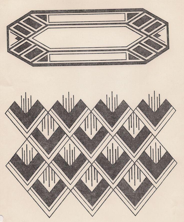 art deco design design motifs patterns pinterest. Black Bedroom Furniture Sets. Home Design Ideas
