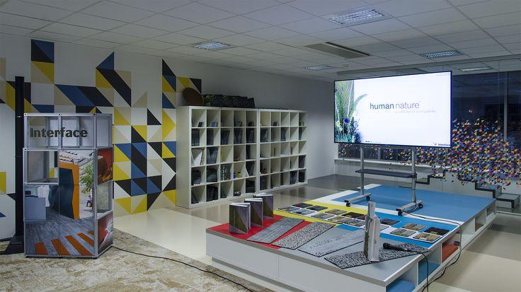 Interface, carpet tiles, Nora, showroom in Prague