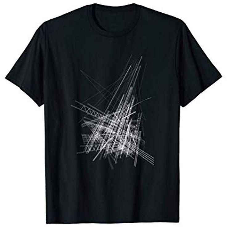 Architektur-abstraktes geometrisches grafische Linien T-Shirt #Bekleidung #Spezi...