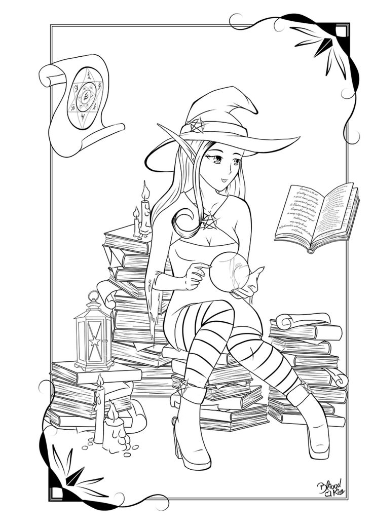 Learning Magic By Bliood Kira Halloween Coloring
