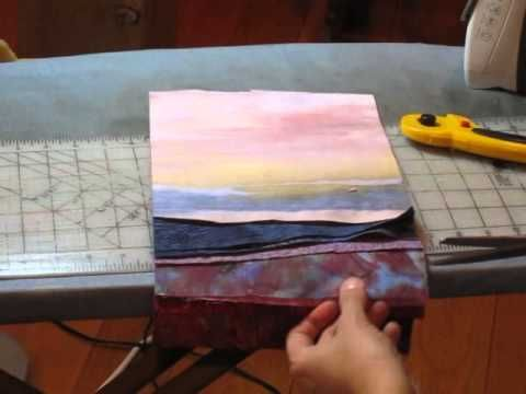 Landscape Quilt - Part3 - Trimming and Final Quilt Top - YouTube