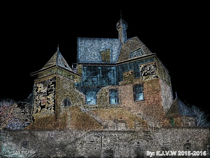 https://flic.kr/p/CX32Vp | Castle Keverberg | With a Colored Pencil Filter.