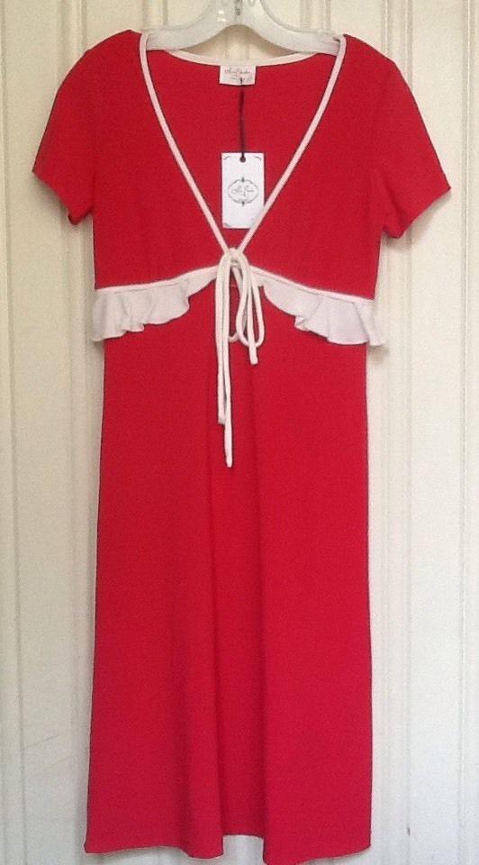 Leona Edmiston BNWT Vintage Style Red Dress Size 1 (10-12) | eBay