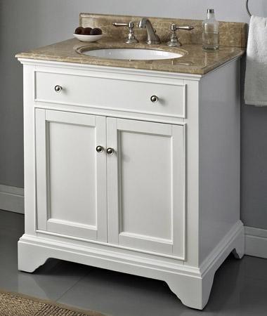 White Bathroom Cabinets Dark Countertops