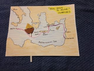 Acts 27, 28:1. Ever been a prisoner? Ever been in violent storm for fourteen days? Every been shipwrecked on an island? Paul has all those things happen to him on the blog tonight. Easy, inexpensive, and unique children's Bible lessons. Free to all! Take a look and share!