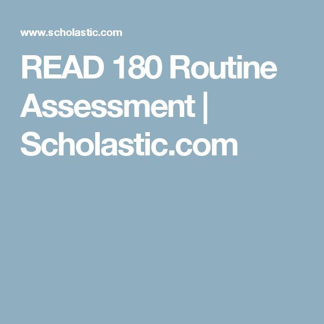 READ 180 Routine Assessment | Scholastic.com