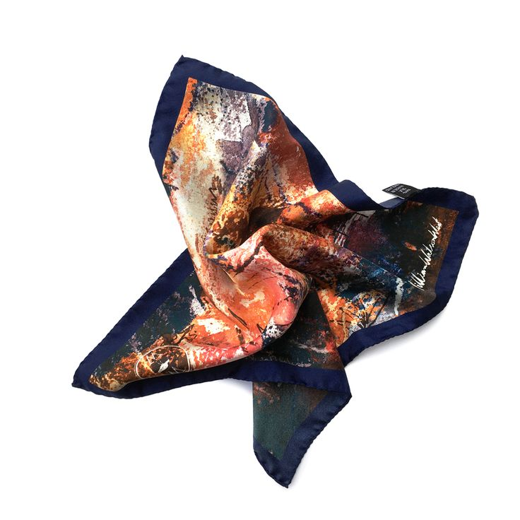 Watson West Silk Pocket Square - 'Askwith'