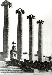 Les Quatre Columnes, a Montjuïc (Barcelona). L'any 1928 Primo va fer enderrocar…