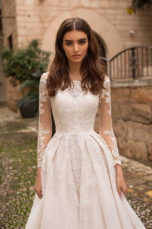 55 Elegant Lace Long Sleeve Wedding Dresses for Every Bridal Style in 2019