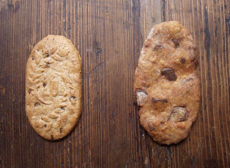 PETITS DÉJEUNÉ DE LU - Ingrédients (pour une vingtaine de biscuits) – 70 g de farine complète – 50 g de farine de seigle – 25 g de farine blanche – 30 g de flocons d'avoine – 50 g de sucre – 75 g de beurre – 2 cuil. à soupe de miel – 1 cuil. à soupe de lait – 1 cuil. à soupe de sucre vanillé – 100 g de chocolat noir