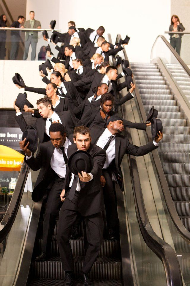 flash mob scene from Step Up Revolutions || stairs