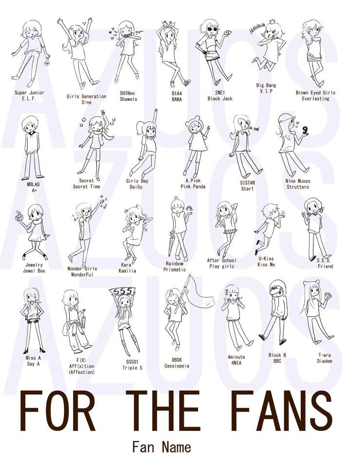 Some of the MANY Kpop Fandoms out there!