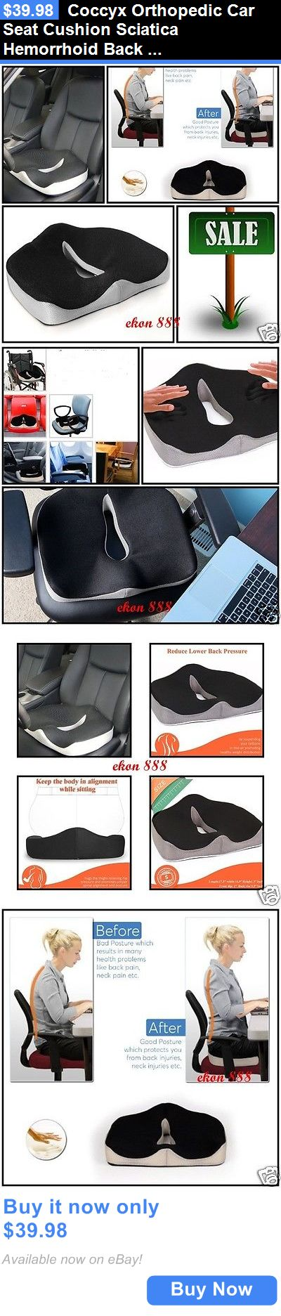 Seat and Posture Cushions: Coccyx Orthopedic Car Seat Cushion Sciatica Hemorrhoid Back Pain Pregnancy BUY IT NOW ONLY: $39.98