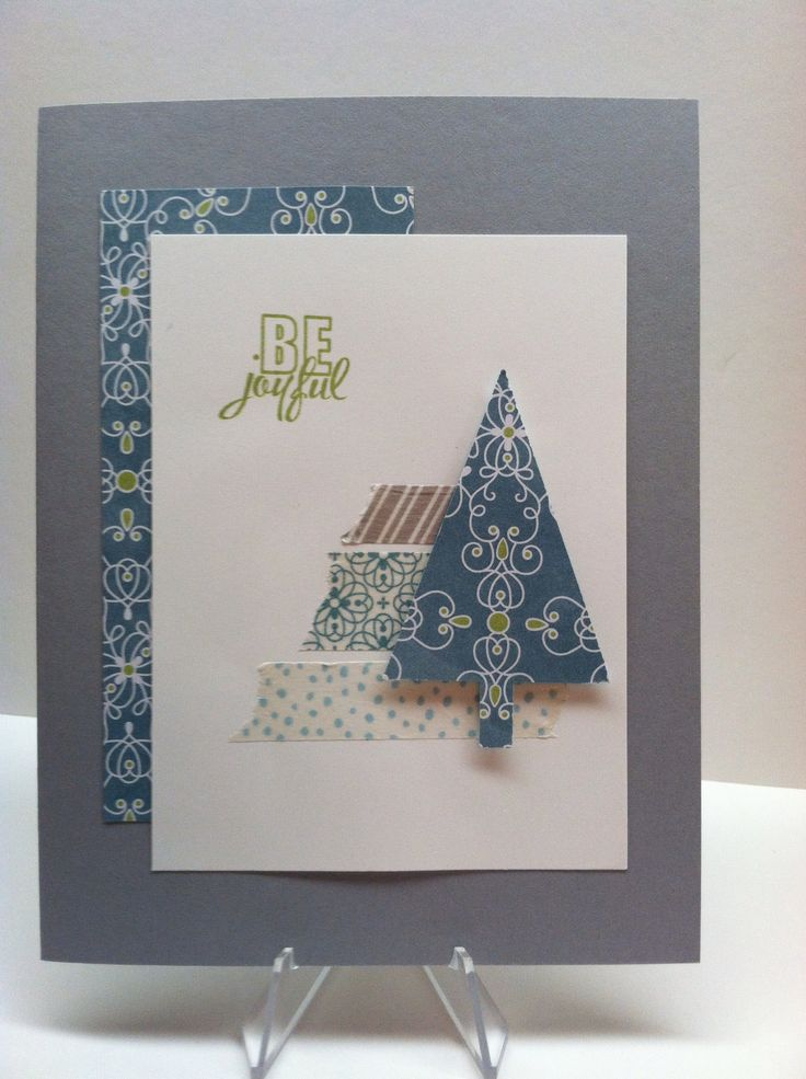 Stampin' Up! All is Calm DSP and Washi tape