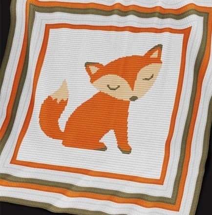 Crochet Pattern | Baby Blanket / Afghan - Fox