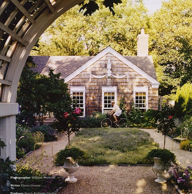 charming. love the crushed stone/pea gravel paths.: Garden Ideas, Gravel Paths, Exterior, Dream House, Gardens, Architecture, Outdoor Spaces