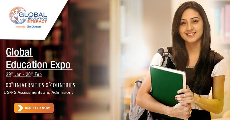 Global Education Fair 2015 - Road to Education beyond Borders!  Register Now: www.thechopras.com/GEI  UG/PG Admissions & Assessments for 2015 Intakes  Highlights: -On Spot Counseling -Scholarship and fee waiver opportunities - Advice on Visa Application and the Availability of education loans  Register Now: www.thechopras.com/geicampaign  #GEI2015 #globaleducationfair #educationfair