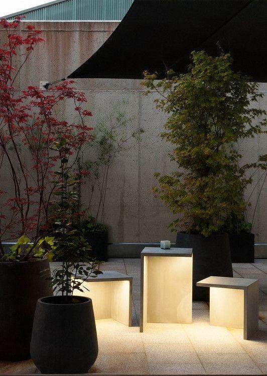 LED cement Floor lamp EMPTY by Vibia | #design Josep Lluís Xuclà @vibialight