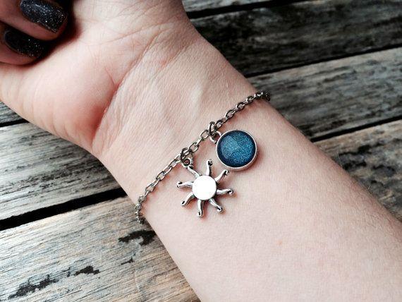 Sun Bracelet initial bracelet Sun jewelry sun pendant