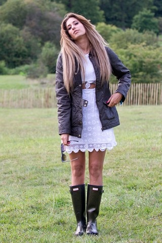 Girly dress and wellies