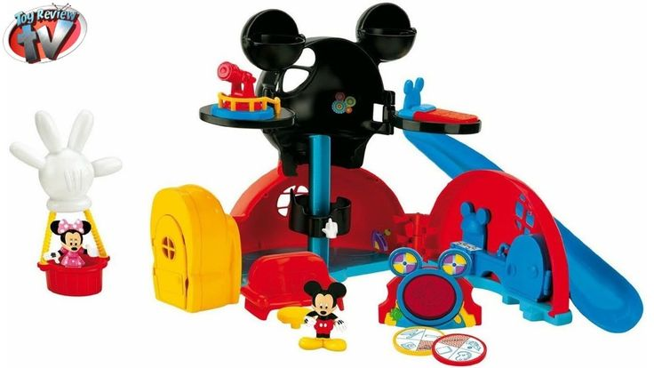 MICKEY MOUSE CLUBHOUSE PLAYSET Fisher Price Disney Junior TOYS Family Review Video with Minnie Mouse