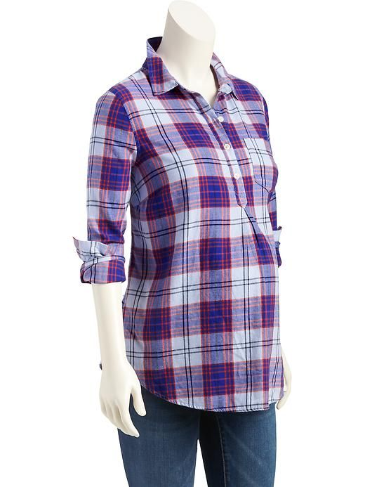 Old Navy Maternity Plaid Pullover Flannel Shirt | Flannel Shirts ...