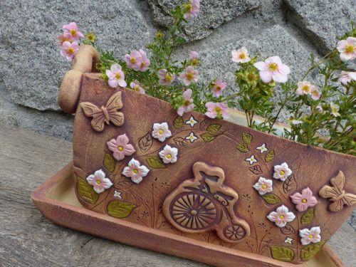 """Загородный коробка окна 27cm -,,Bicykl и розового цветов\"""""""