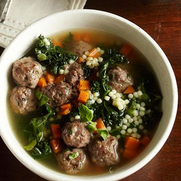 Italian Wedding Soup's name comes from the marriage of meat and greens! Get more Italian slow cooker recipes.