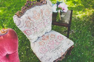 vintage wedding furniture  Owl + Pussycat Events