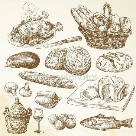 Продовольственный сбор — стоковый вектор