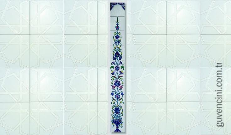 iznik çini 20 x 180 ED-87   Turkish Ceramics   Ceramica Turk
