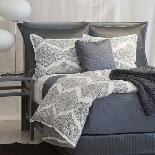 Ann Gish Infinity Bedding - Steel