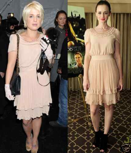 H M Vintage 1940s 1920s Chic Nude Pleat Frill Kelly Alexis Dress XS 6 2 32 RARE   eBay