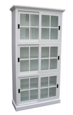 vg30-vitrin skjutdörrar,vit-110x40x210cm(7900 kr)