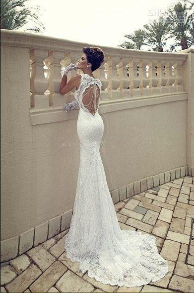 http://gowns.digimkts.com/ Beautiful wedding dress by BraceletWiz on Etsy, $200.00