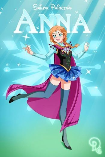 Sailor Disney Princess Anna.... By Drachea Rannak