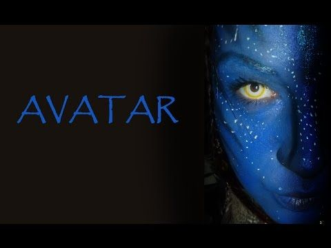 Face painting Lentilles Fantaisie Avatar - YouTube