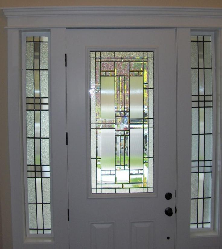 Front Door Stain: Stained Glass Side Panel