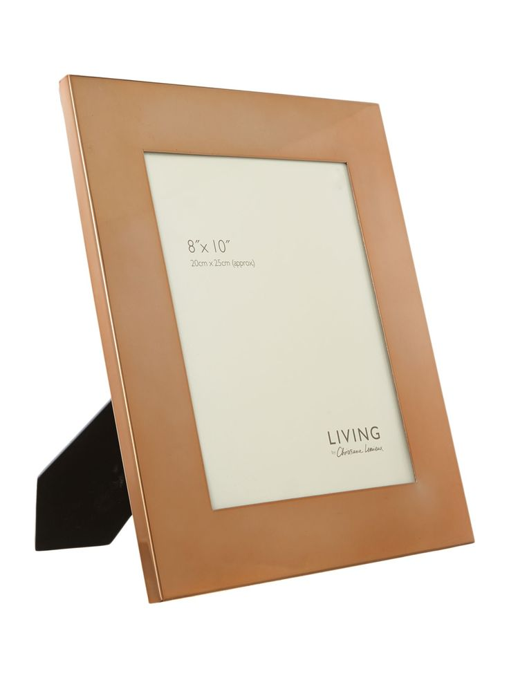 Living by Christiane Lemieux Copper frame, 8 x 10 from House of Fraser