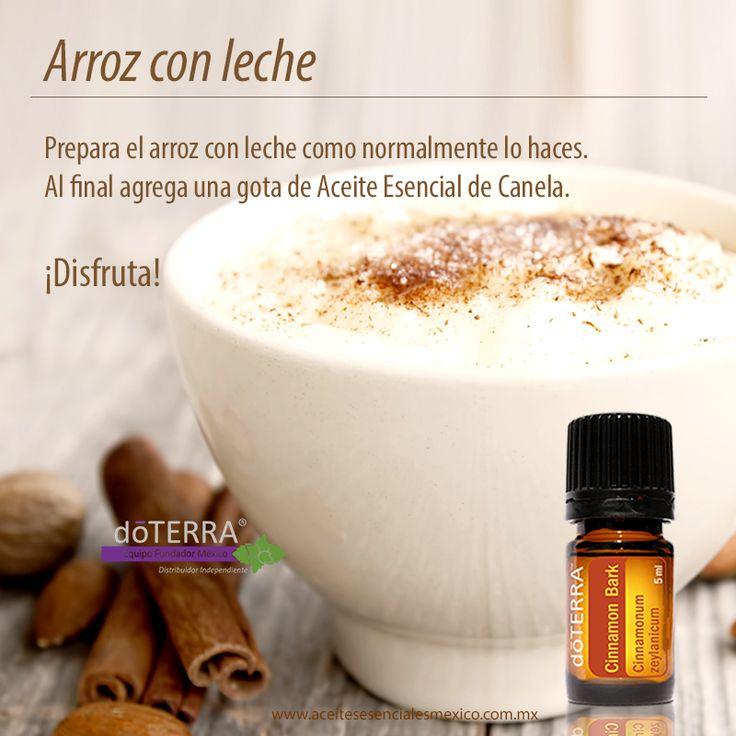 Prepara un delicioso arroz con Leche usando aceite esencial de Canela doTERRA
