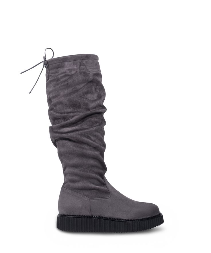 GRUMMAN flat boot to warm your footsteps... Grey