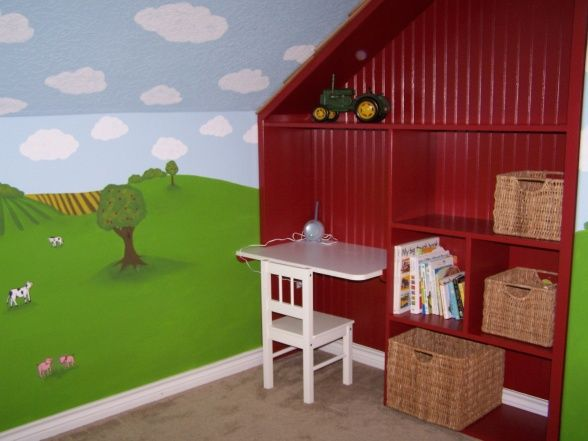 Toddler Tractor Bedroom...this would be a cute change to Levi's farm nursery! :)