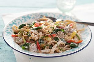 PHILLY Cream Cheese makes the tasty cream sauce for this delicious pasta dish.