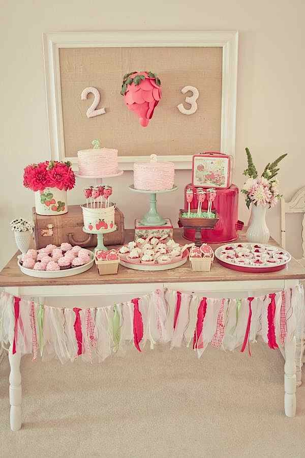 THE SWEETEST birthday party FULL of cute diy ideas! Kara's Party Ideas KarasPartyIdeas.com #strawberry #party #ideas #shortcake #supplies #shop
