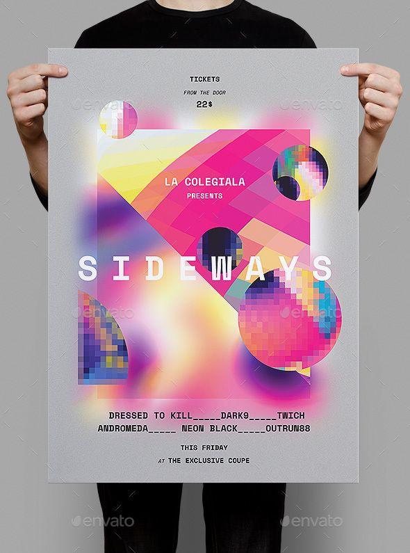 Sideways Poster / #Flyer - Clubs & Parties Events Download here:  https://graphicriver.net/item/sideways-poster-flyer/20328901?ref=alena994